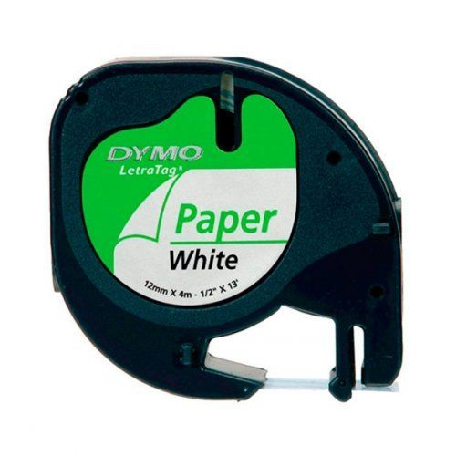 Dymo LetraTag 91220 paperiteippi 12 mm valkoinen